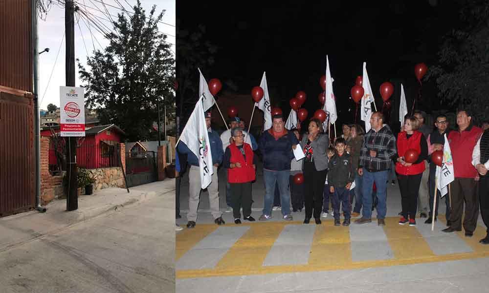 Alcaldesa junto a vecinas y vecinos de Jardines del Río inauguran la calle Jacob