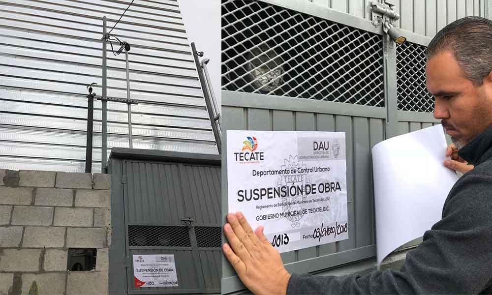 Suspenden construcción de antena de telecomunicaciones en la colonia Militar en Tecate