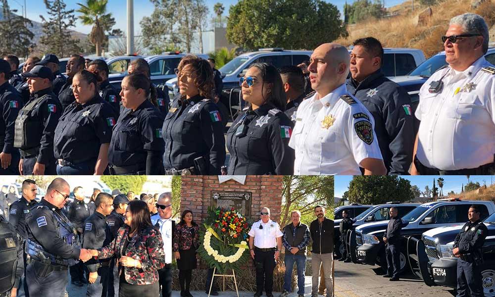 Reconocen a policías de Tecate en el Día Internacional del Policía