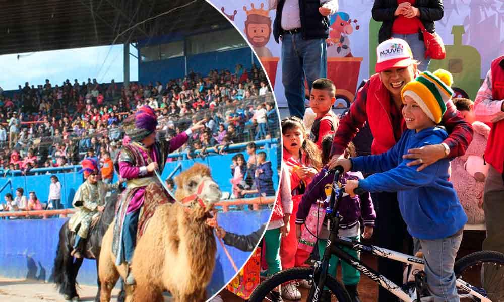 Reyes Magos entregan regalos a más de 3 mil niñas y niños tecatenses