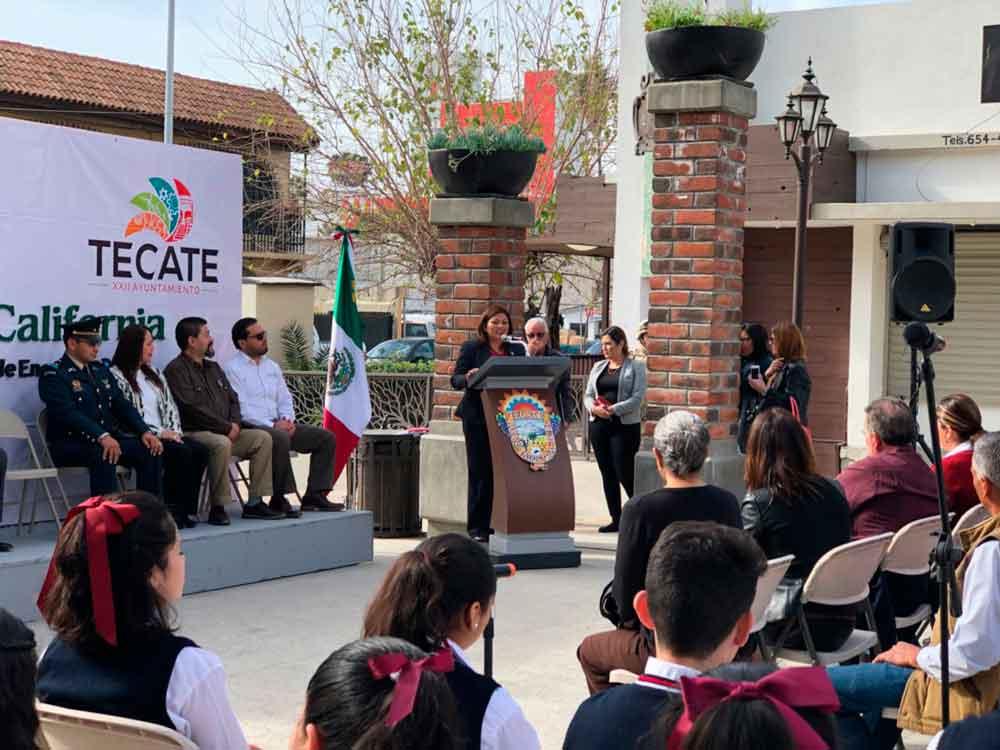 Ayuntamiento de Tecate conmemora el 66 Aniversario de la Creación del Estado de Baja California