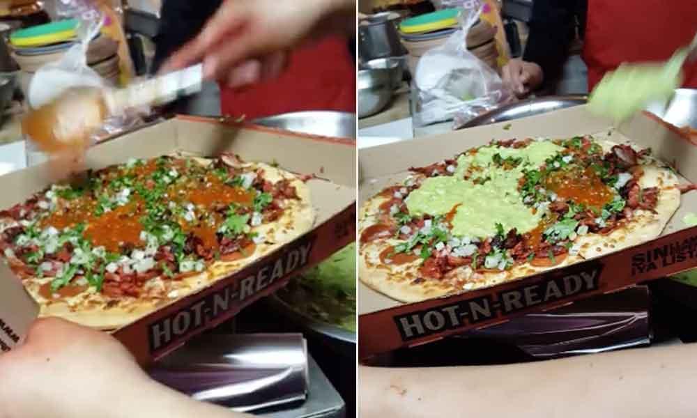 ¿Ya probaste la nueva pizza con adobada de Tijuana?