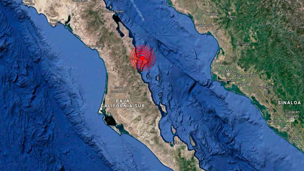 Se registra sismo de magnitud 6.3 en Baja California Sur