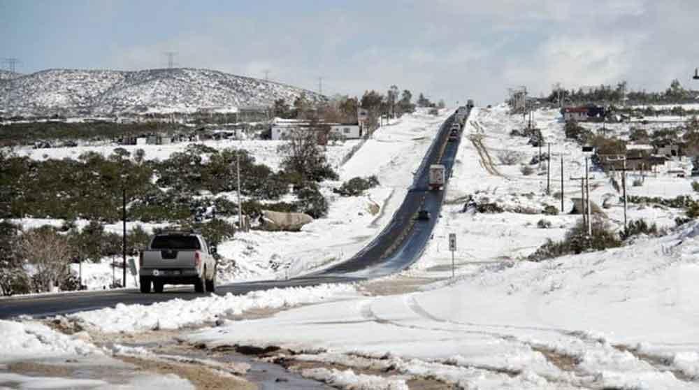Lluvias llegarán hoy en la noche a la región; hay posibilidad de nevadas en La Rumorosa