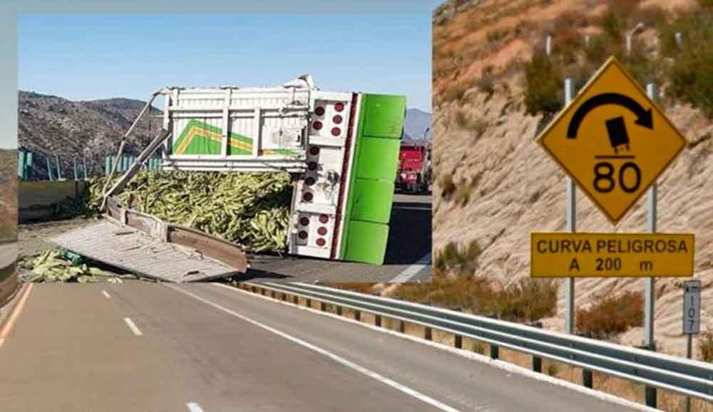 Vuelca camión elotero en carretera Mexicali-Tecate