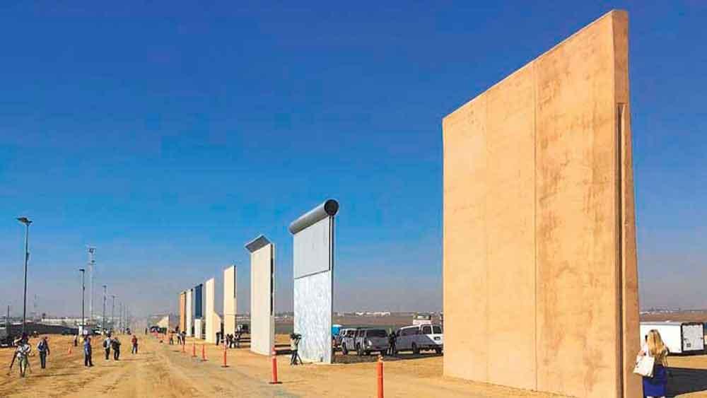 Prototipos del muro superan pruebas militares en San Diego