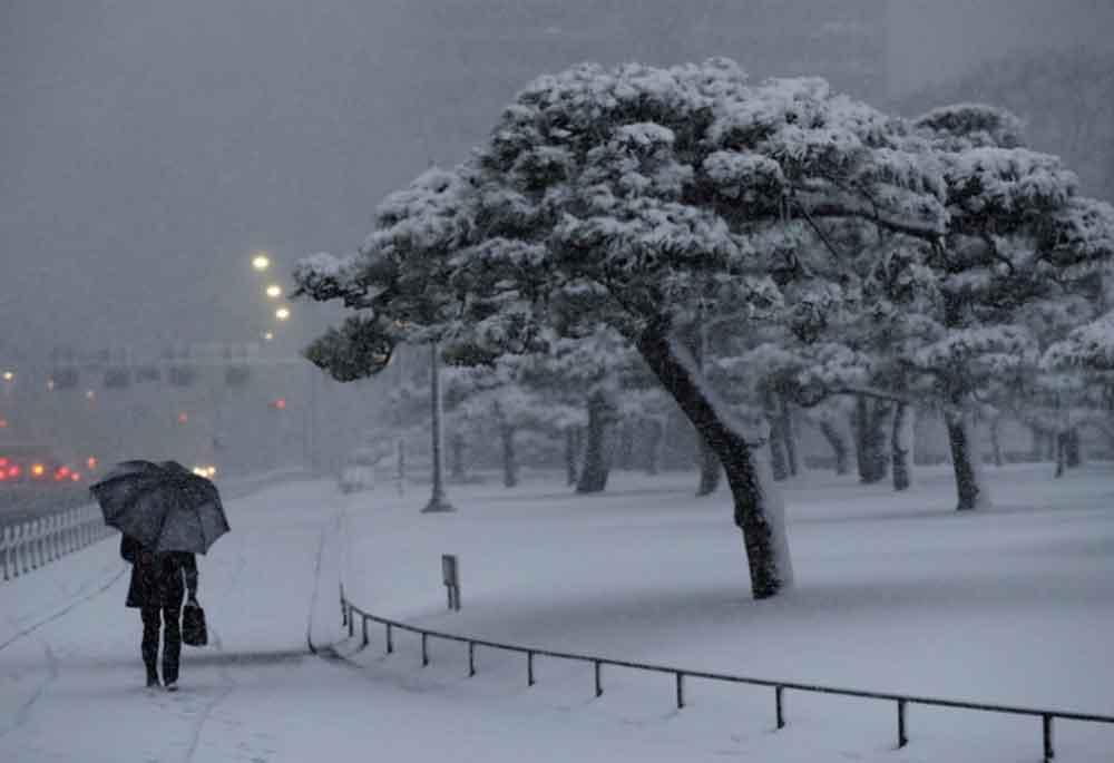 Nieve en Japón deja 182 heridos y vuelos cancelados