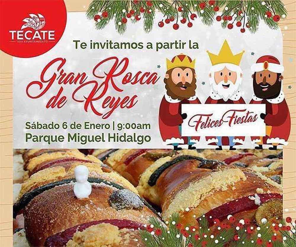 Invitan al Tradicional corte de Rosca de Reyes en Tecate