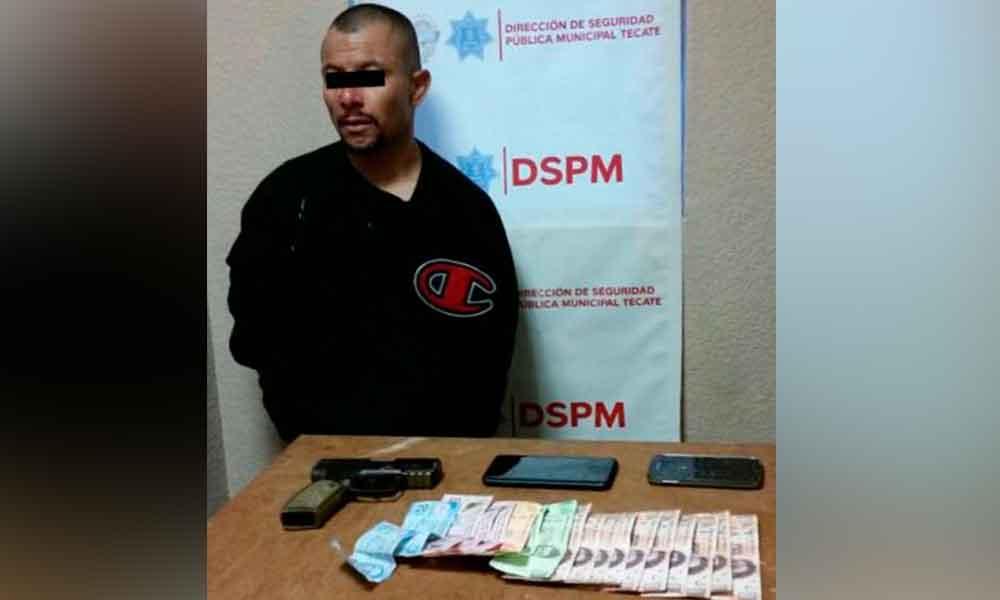 Capturan a presunto ladrón en Tecate