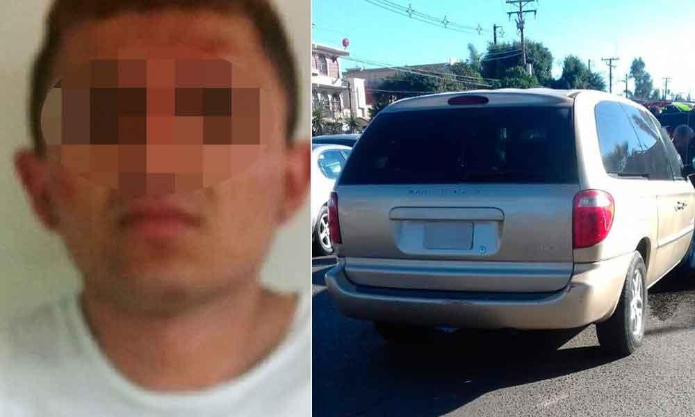 Capturan a sujeto tras robar vehículo con violencia en Tijuana