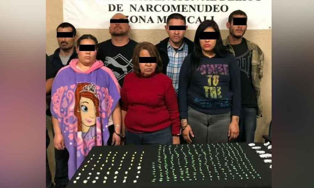 """Capturan a la banda de """"La Princesita Sofía"""" dedicados al narcomenudeo en Mexicali"""