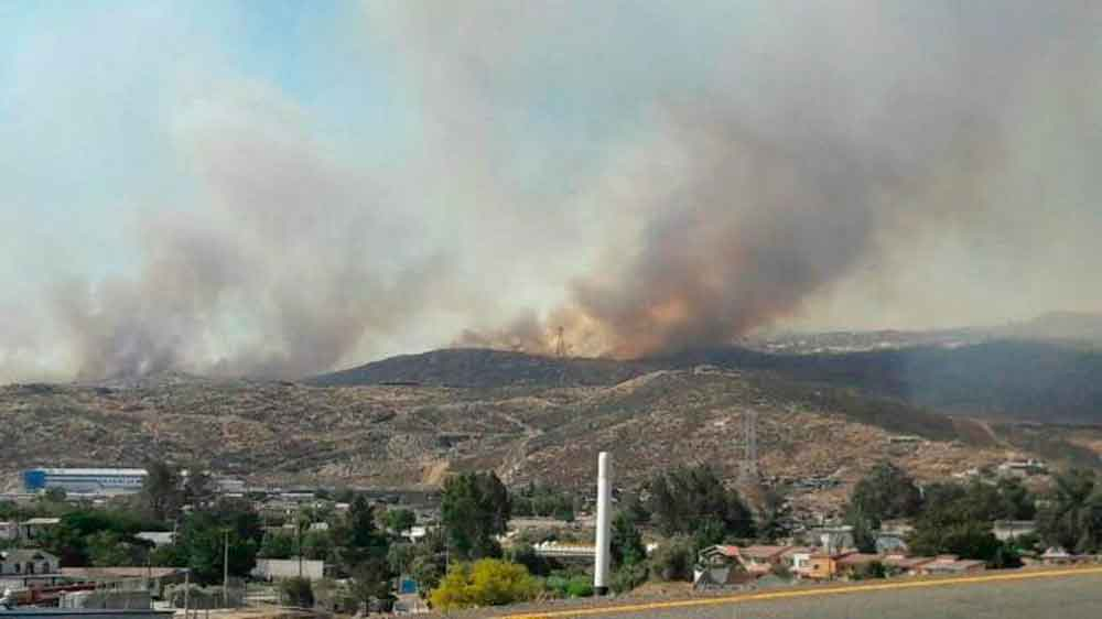 Alerta de fuertes vientos y riesgo de incendios en Tecate