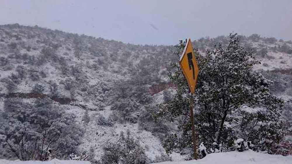 Esperan caída de nieve y aguanieve en la Sierra de Sonora
