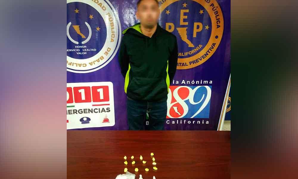 """Capturan en Mexicali a sujeto con 360 dosis de """"Cristal"""""""