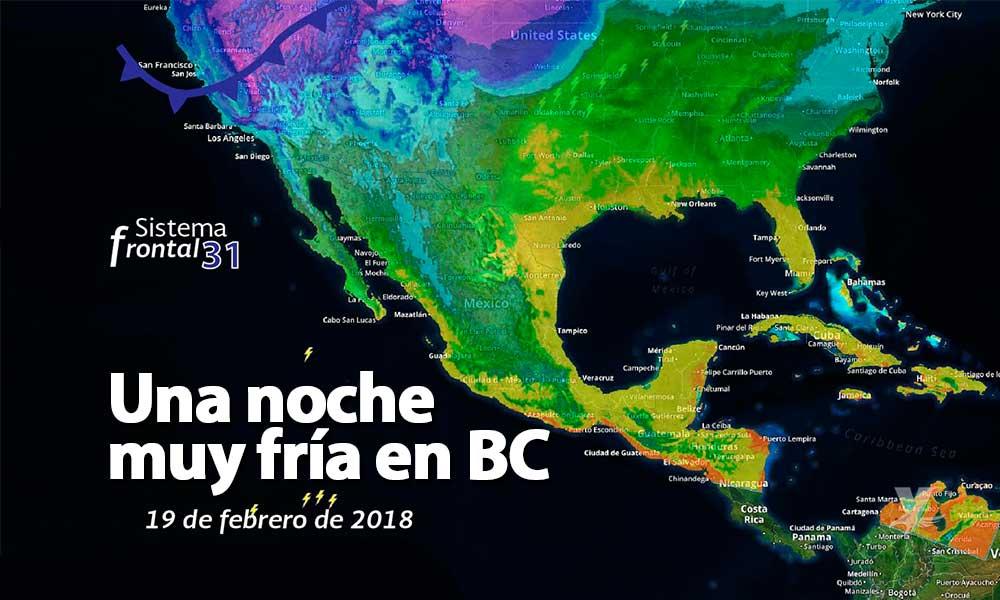 ¡Abrígate! Temperaturas de -5 grados celsius en sierras de Baja California, advierte Protección Civil