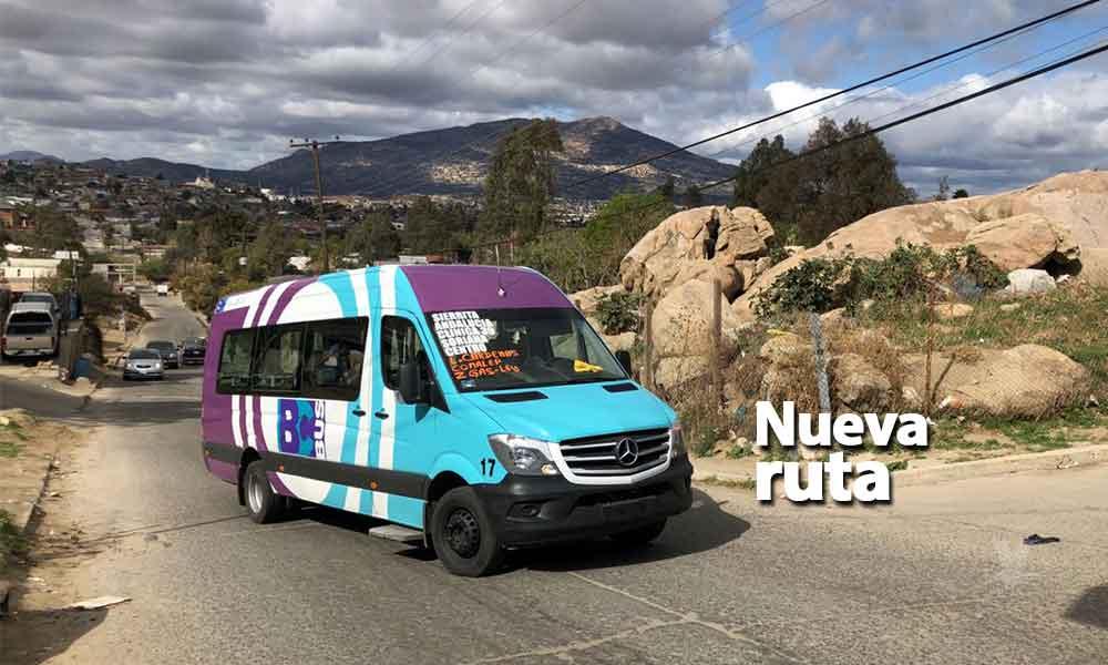 Abren nueva ruta de transporte en Tecate