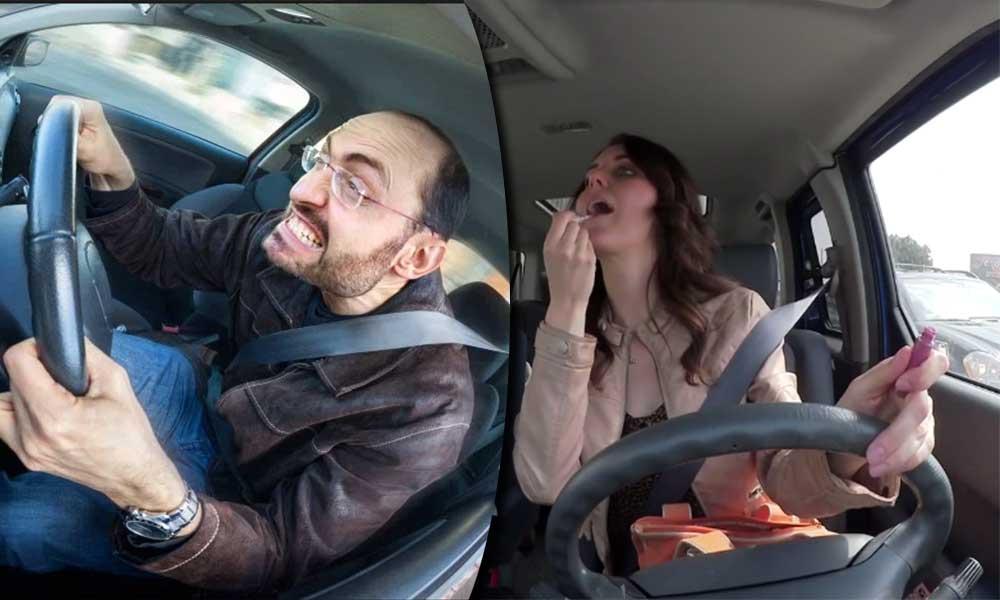 """""""Se debe conducir con ambas manos al volante"""", dice el reglamento… pero, ¿Se cumple?"""