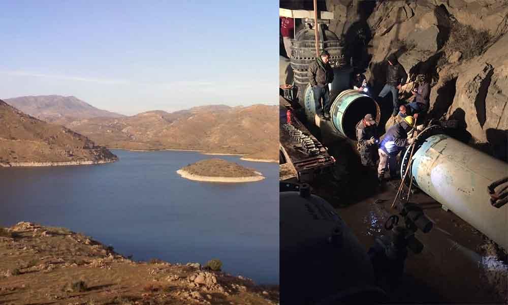 Dan mantenimiento a presa El Carrizo por falla en una válvula