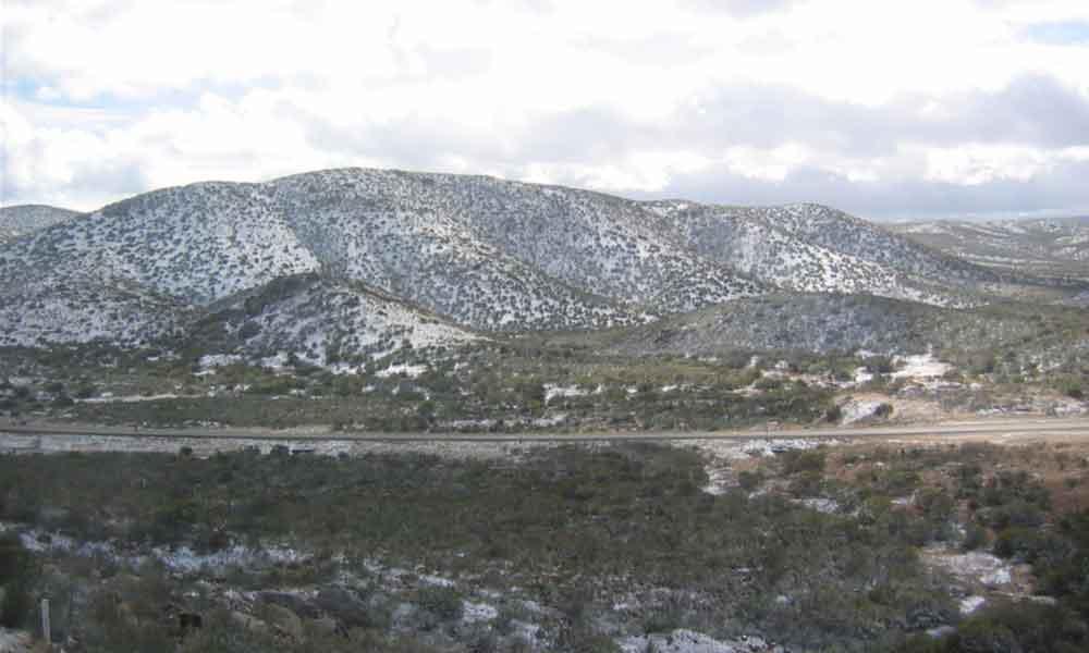 Probabilidad de lluvia y nevada hoy por la noche para Baja California