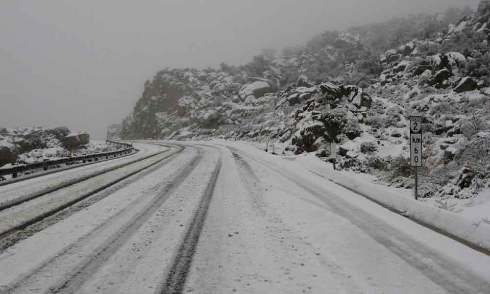 Reitera CONAGUA nevadas, viento y alto oleaje para Baja California