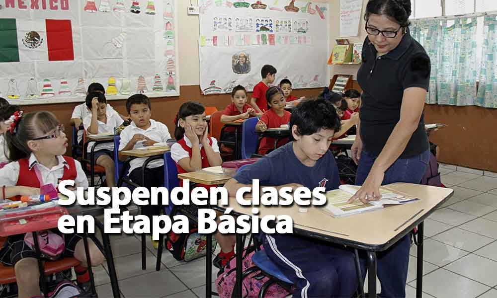 Suspensión de clases en preescolar, primaria y secundaria del turno matutino mañana martes en Tecate
