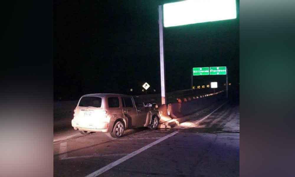 Dos menores heridos tras fuerte choque en carretera Mexicali-San Luis