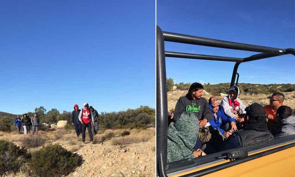 8 migrantes fueron abandonados en la zona montañosa de La Rumorosa; los rescatan