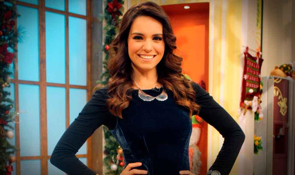 "Tania Rincón sale ""volando"" durante programa ""Venga la Alegría"""