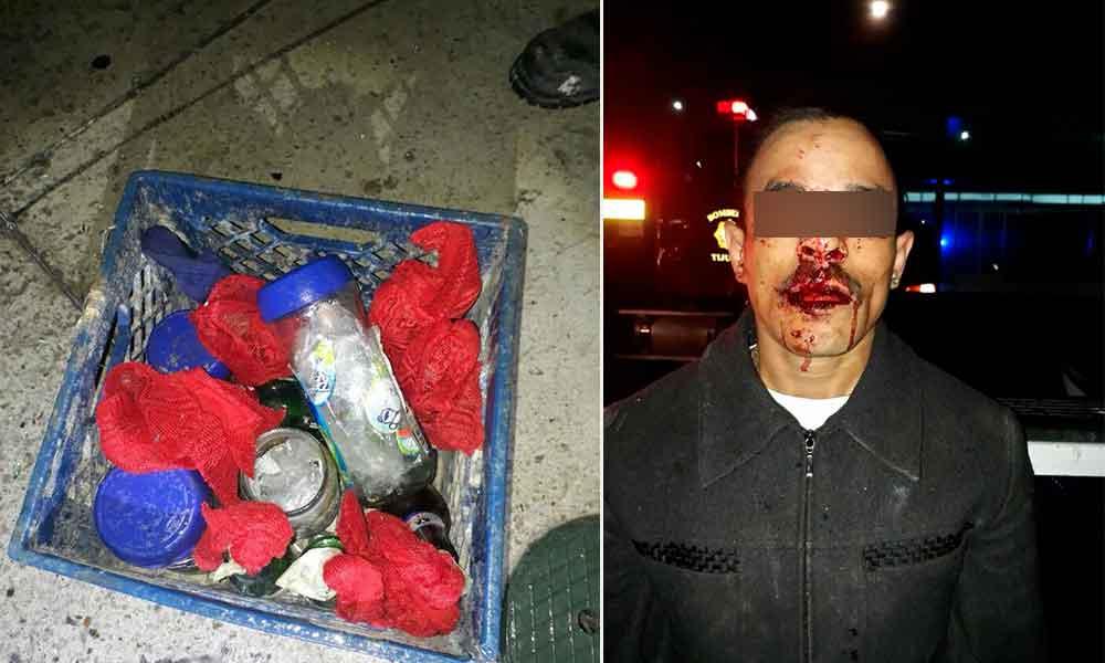 Atacan instalaciones del SITT con bombas molotov