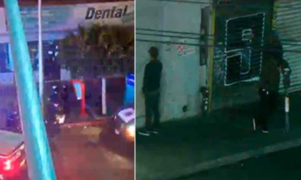Cámaras de seguridad captan a ladrón y grafiteros en Tijuana