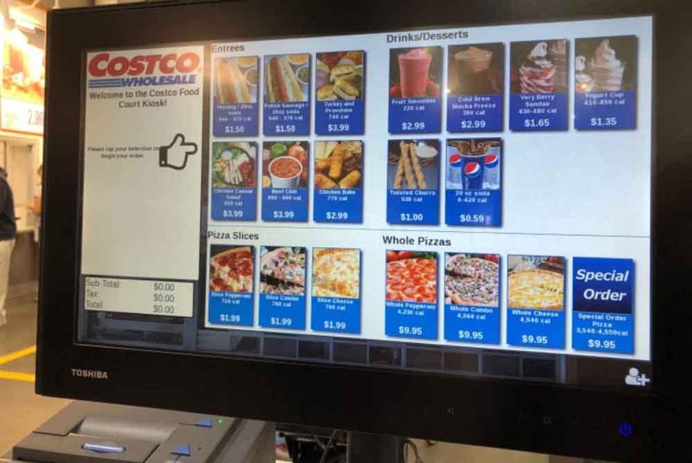 Tiendas Costco prueban kioscos computarizados para pedidos de comedores
