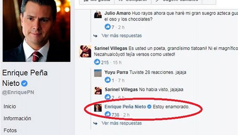 Las divertidas respuestas de Peña a usuarios de Facebook