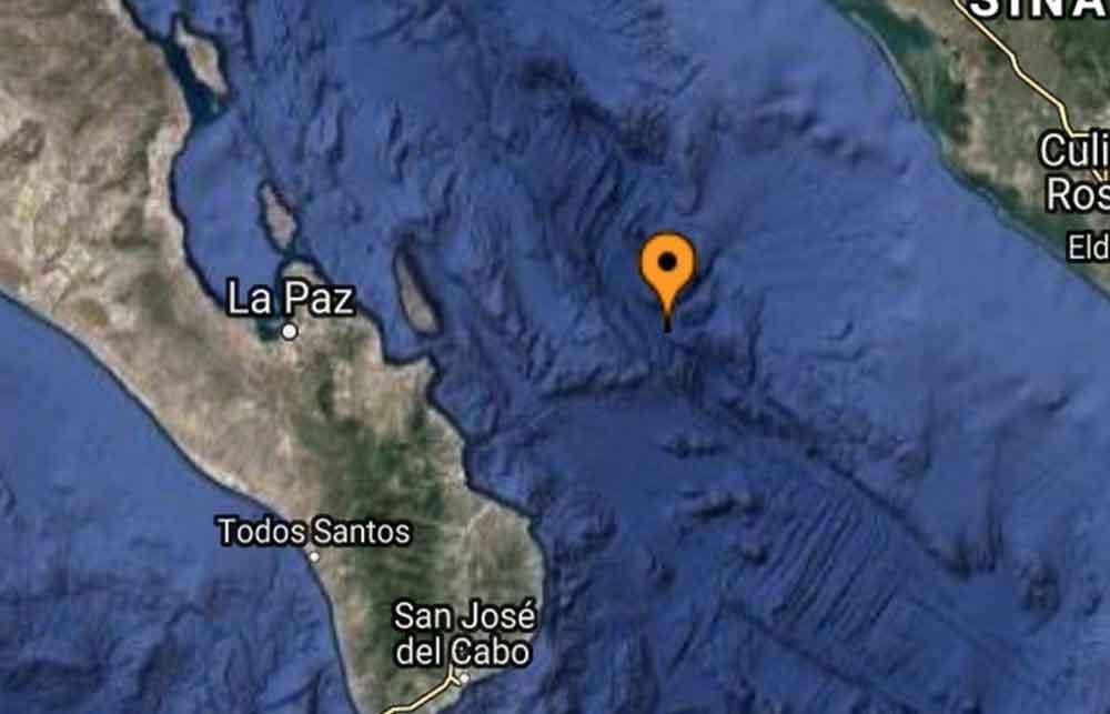 Se registra sismo de 4.3 en Baja California Sur