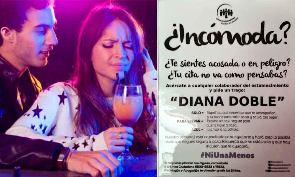 """""""Diana Doble"""", la bebida que podría prevenir el acoso sexual"""