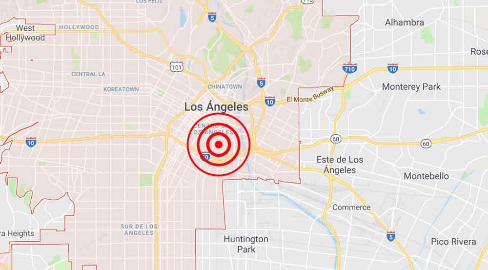 Se registra temblor en centro de Los Ángeles