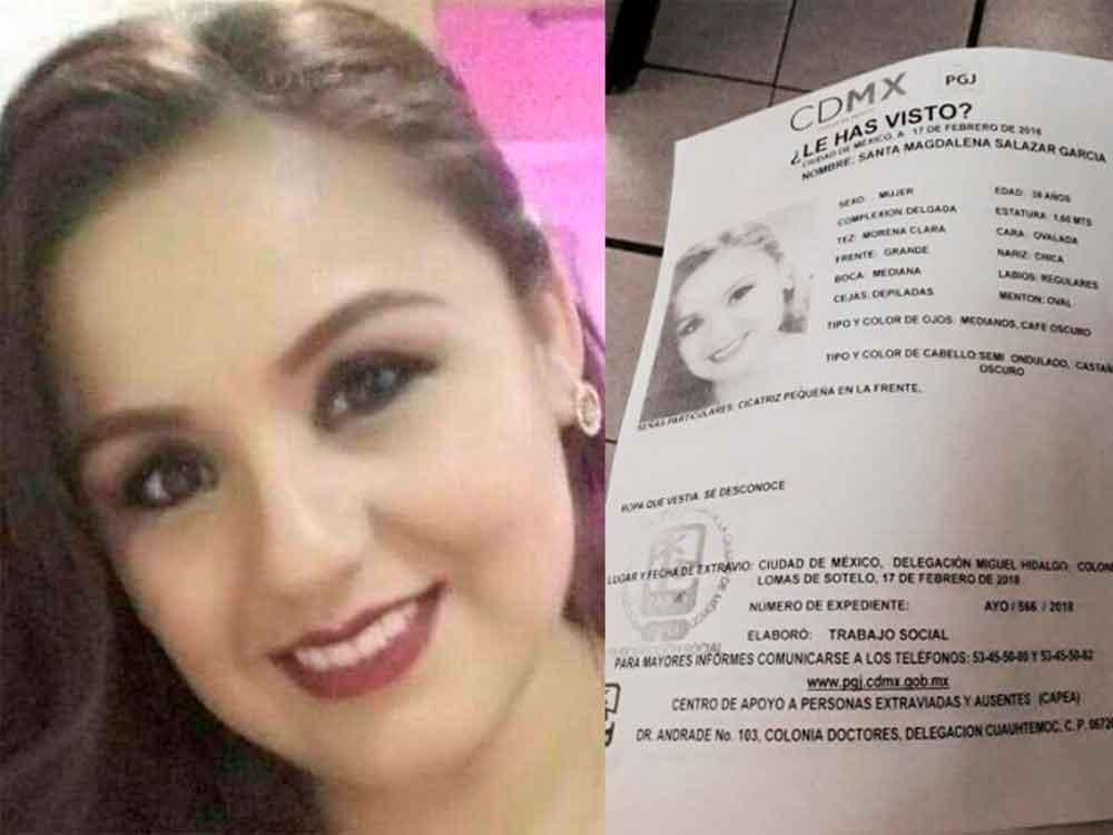 Hallan sin vida a teniente enfermera reportada como desaparecida