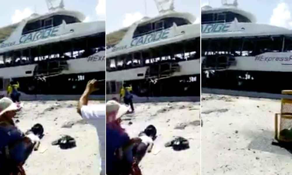 Explota barco en Playa del Carmen; hay 18 heridos