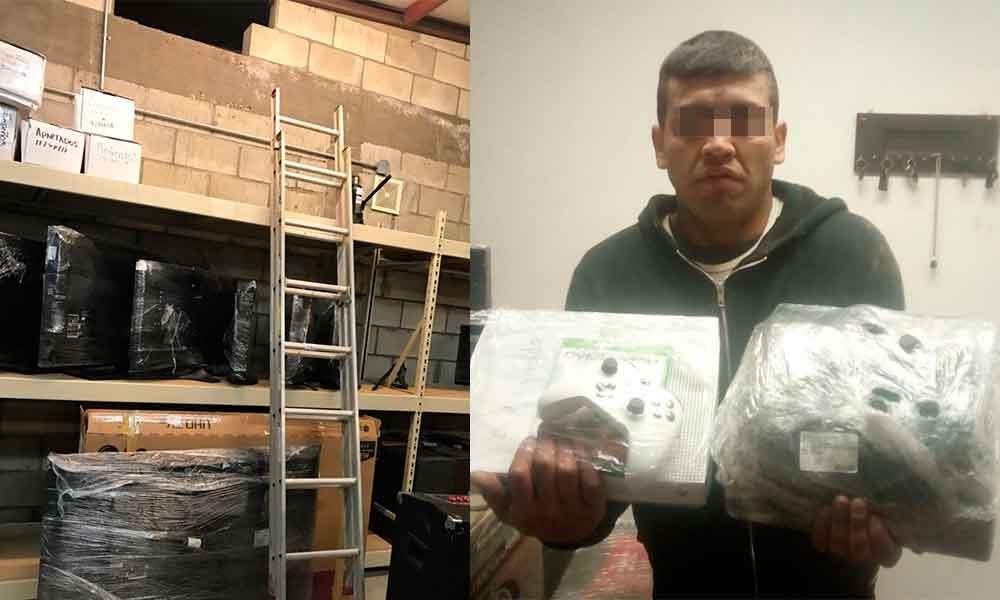 ¡Con las manos en la masa! Atrapan a delincuente robando en tienda de empeño en Tecate