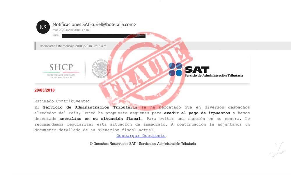 ¡No te dejes engañar! Advierte SAT sobre correos falsos