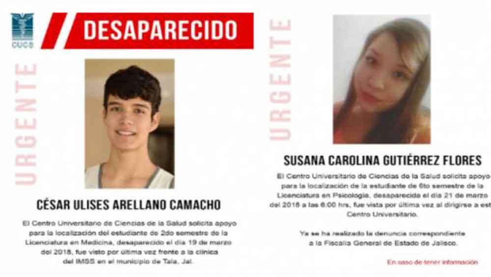 Alerta en Jalisco por desaparición de otros dos estudiantes