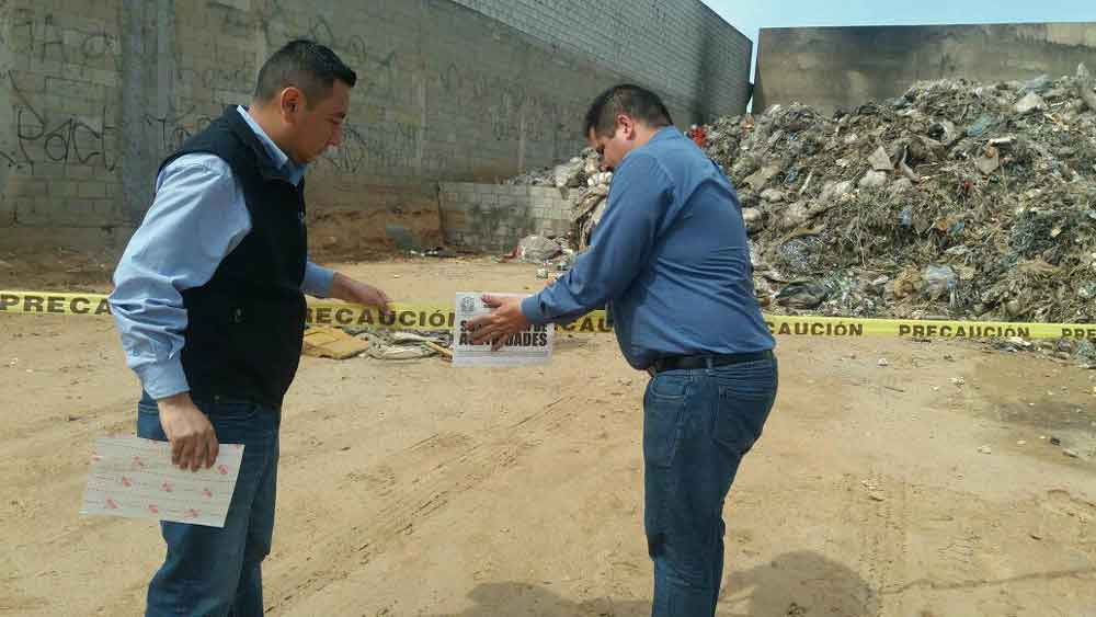 Impulsan operativos para clausurar tiraderos clandestinos en Baja California