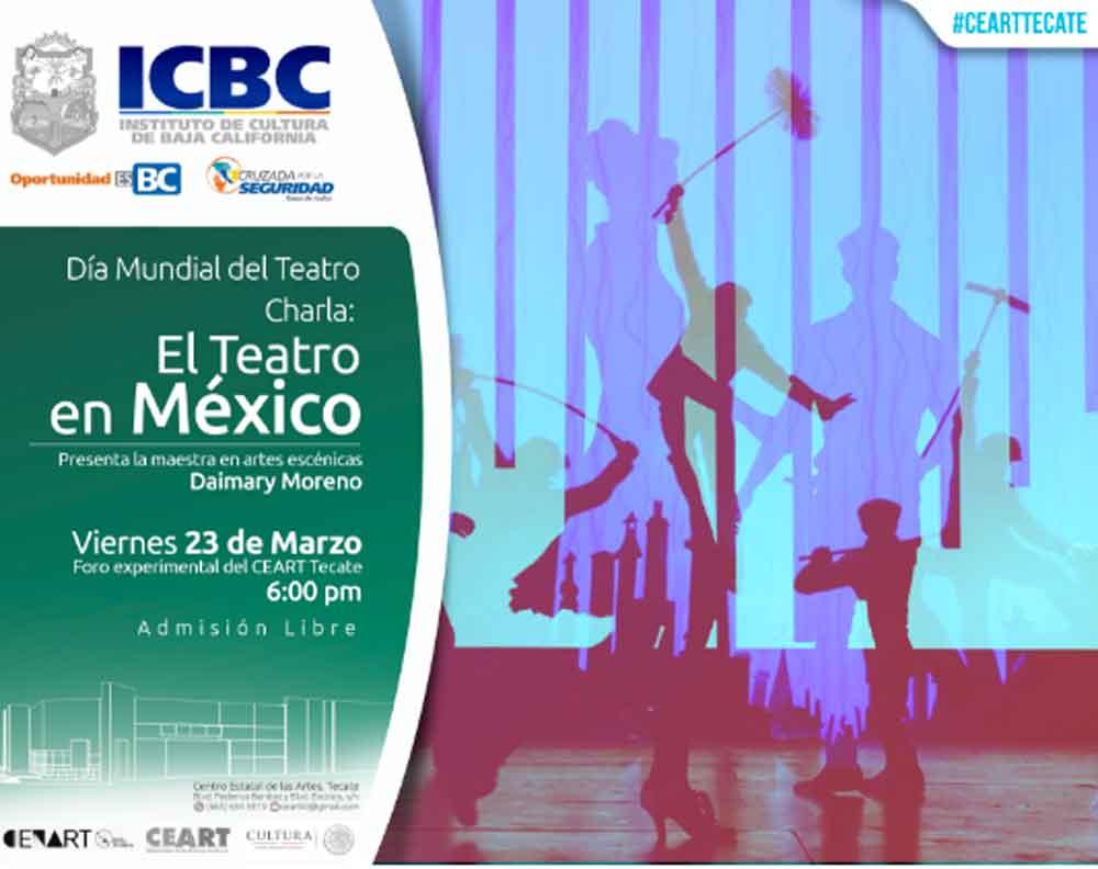 """Invita CEART Tecate a charla """"El teatro en México por Daimary Moreno"""""""
