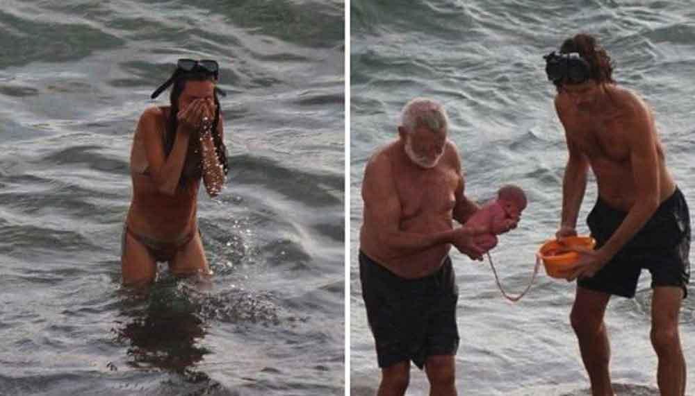 Mujer da a luz en el Mar Rojo y las fotos se vuelven virales
