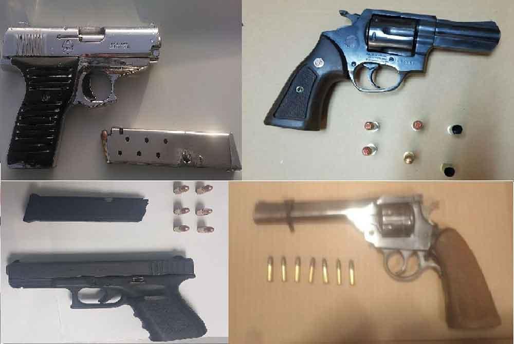 Saca Policía Municipal de las calles 5 armas de fuego