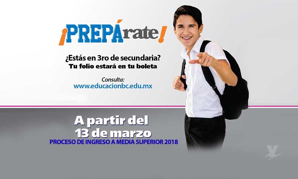 Mañana inicia entrega de folio y clave para estudiantes de tercero de secundaría en Baja California