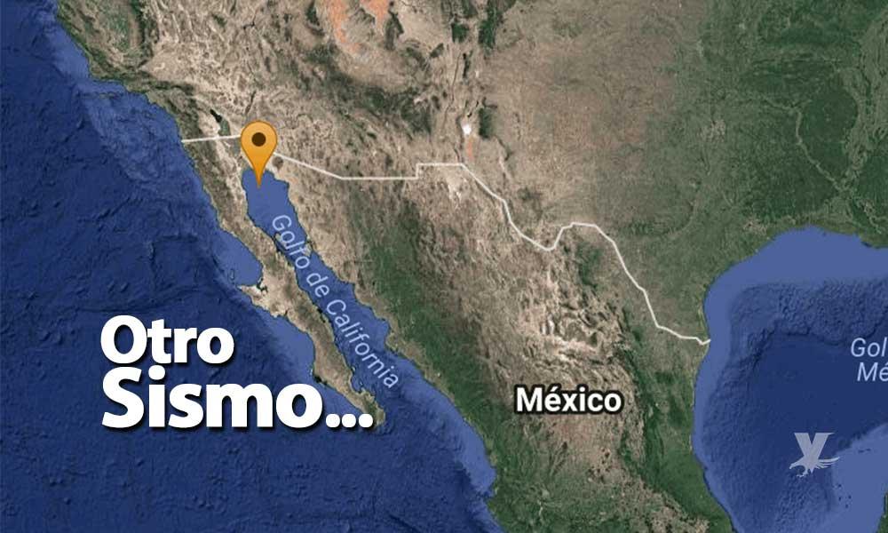 Reportan sismo de 4.5 grados al este de San Felipe