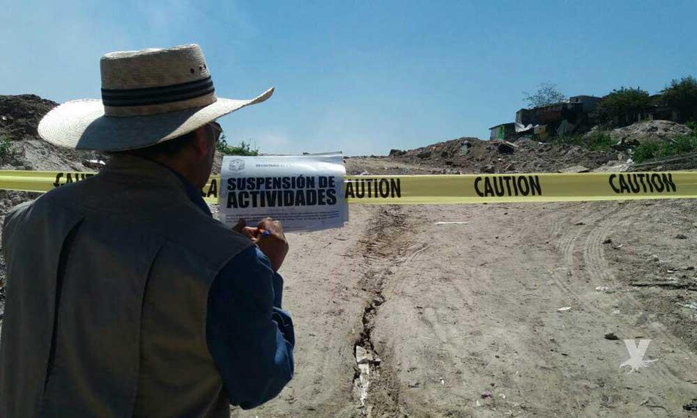 Clausuran tiraderos clandestinos en Tijuana y Ensenada, con superficie de 5 mil metros cuadrados