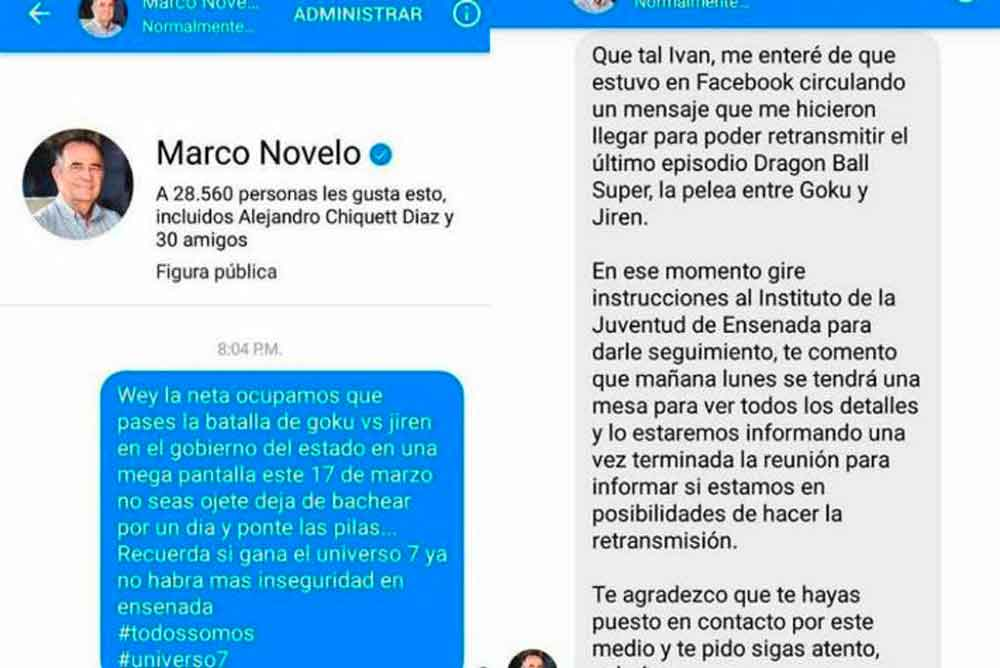 Alcalde de Ensenada analiza transmitir capítulo de Dragón Ball