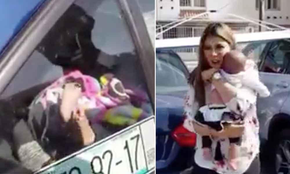 Deja a su bebé encerrada en el carro para ir a desayunar con sus amigas