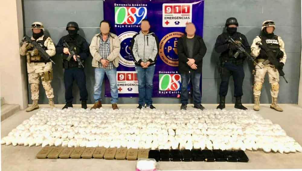Localizan mega laboratorio de metanfetaminas en Rosarito; tres detenidos